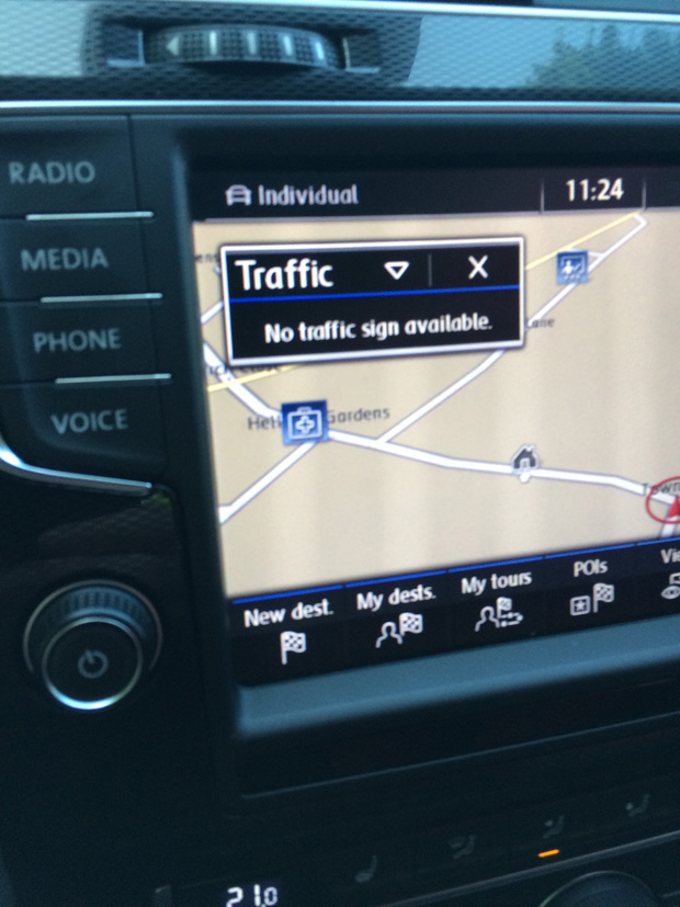 Lane Assist Displaying Traffic Signs on Discovery Pro? - GOLFMK7
