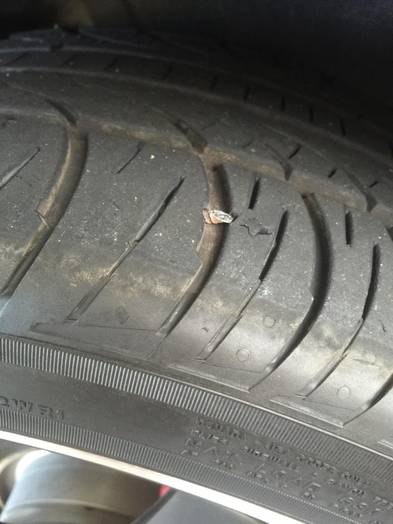 Nail in tire... - GOLFMK7 - VW GTI MKVII Forum / VW Golf R Forum ...