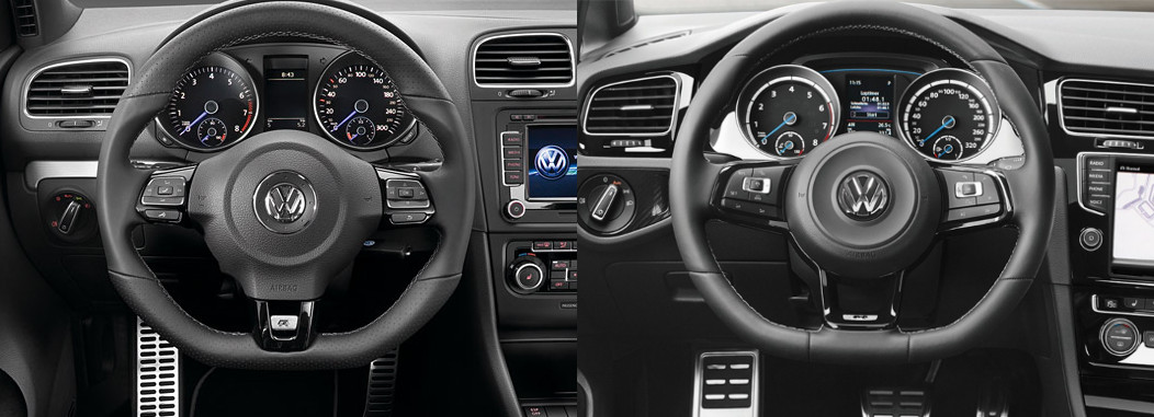 r steering wheel vs gti steering wheel golfmk7 vw gti mkvii forum vw golf r forum vw. Black Bedroom Furniture Sets. Home Design Ideas